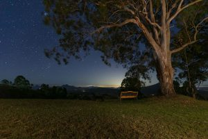 Country sunsets with clear night skies