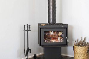 The Villa - Wood Fireplace