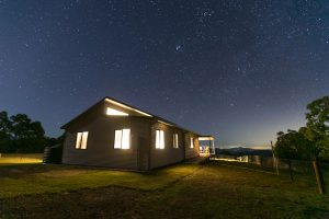 Country retreat under the stars